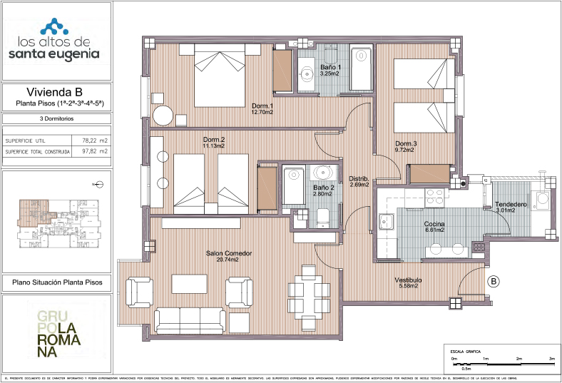 Planos De Pisos De 3 Dormitorios Simple Plano With Planos De Pisos - Planos-de-pisos-de-3-dormitorios